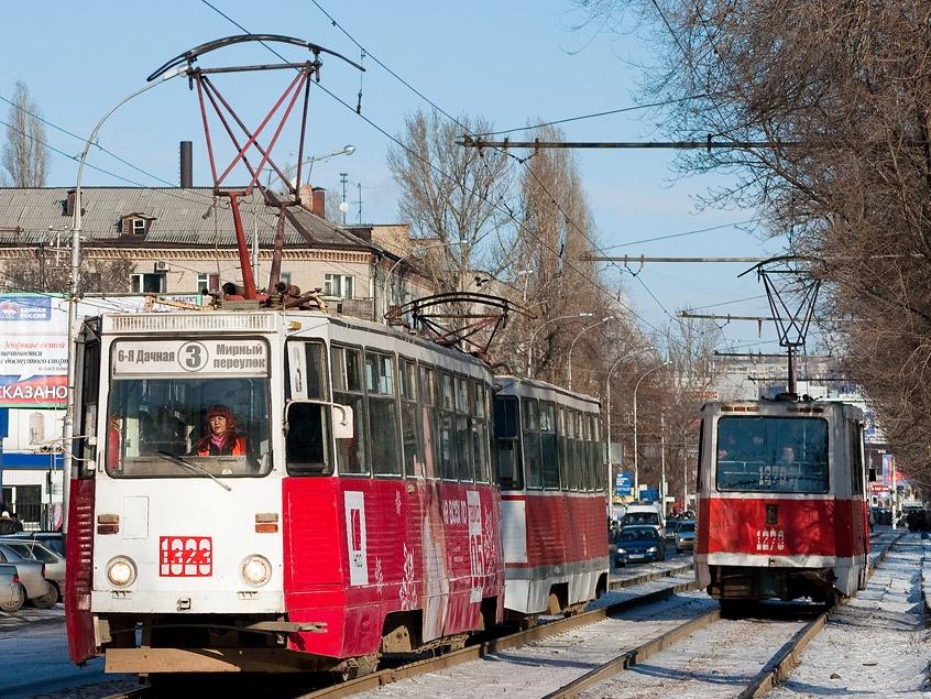 трамваев четырех маршрутов