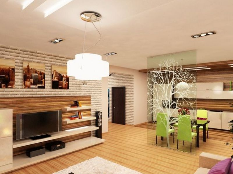 Фото дизайн интерьера кухня студия