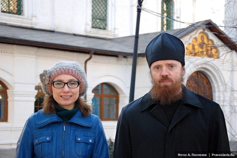 Елена Балаян и игумен Нектарий (Морозов)