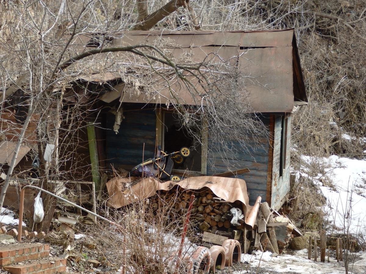 Саратов. Дом с дровяным отоплением.