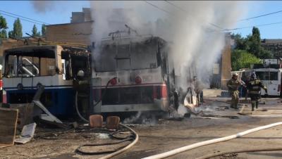 Пожар в кировском троллейбусном депо