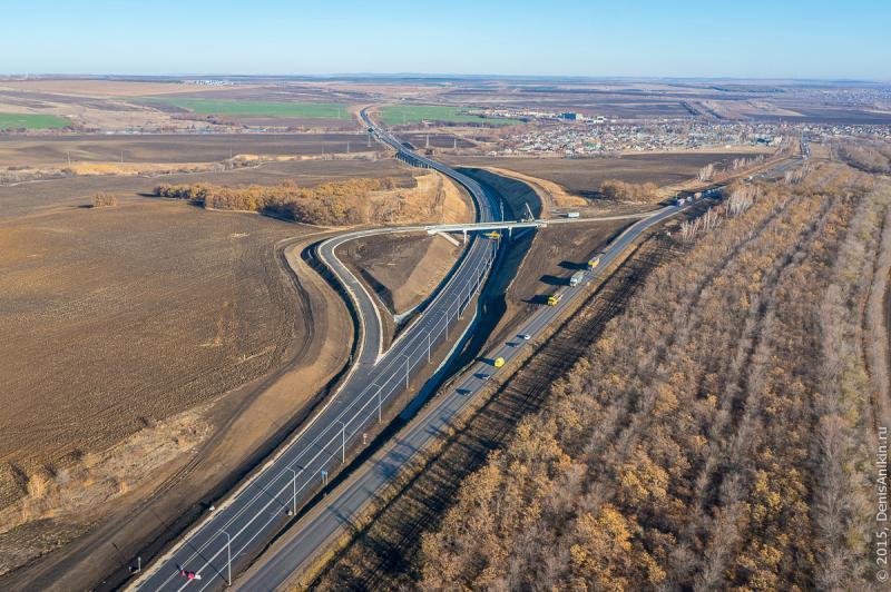 Новый участок федеральной трассы Р-228 в районе села Елшанка